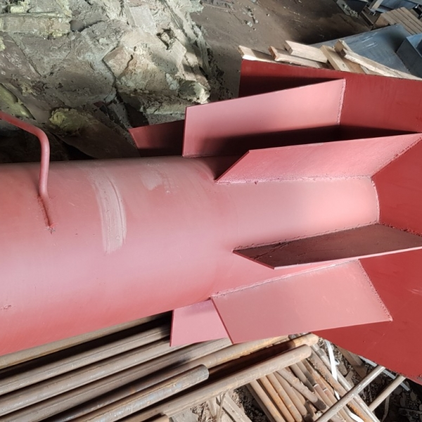 Дымовая труба на растяжках Dy 300