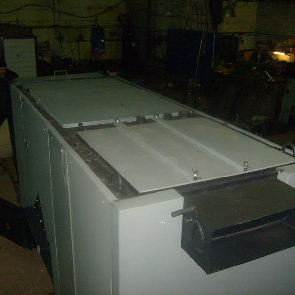 Котел КВм-1,55 на угле с питателем ПТЛ