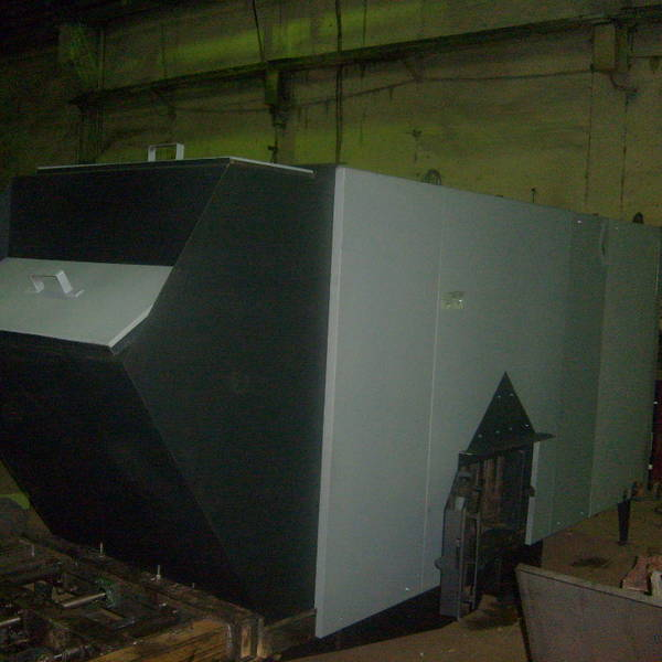 Котёл КВм-0,9 на угле с топкой ТЛЗМ