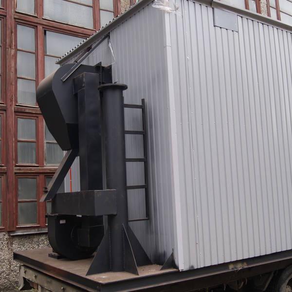 Модульная котельная МКУ-0,25 на основе котла КВр-0,25 на дровах с топкой ОУР