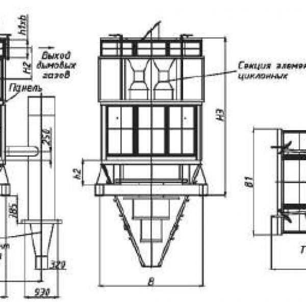 Циклон БЦ-512-1-(4х4)