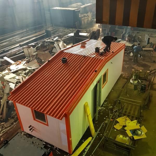 Модульная котельная МКУ-0,2 на основе 2 котлов КВр-0,1 на дровах с колосниковой решеткой