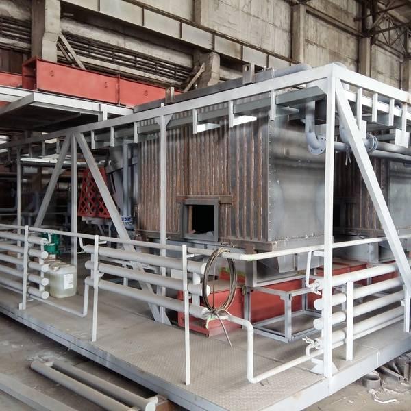 Модульная котельная МКУ-0,7 на основе 2 котлов КВм-0,35 на древесных отходах со шнековой подачей