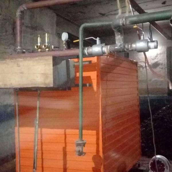 Котёл КВр-0,45 на угле с колосниковой решеткой