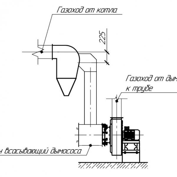 Котёл КВм-6,55 на угле с топкой ТЛЗМ