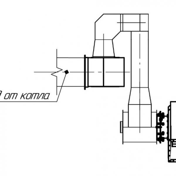 Котёл КВм-6,55 на угле с топкой ТШПМ