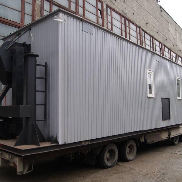 Модульная котельная МКУ-0,1 на основе котла КВр-0,1 на дровах с колосниковой решеткой